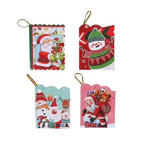 LUCKLY Weihnachtsbaum-Wunschkarte Kleine Karte Weihnachtsdekorationskarte 128 Stück, Weihnachtsbaumdekoration