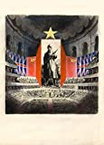 Vintage british 2. Weltkrieg 1939?45Propaganda Gemälde Kommunistische Flagge Neben die britische Flagge 250gsm, Hochglanz, A3, vervielfältigtes Poster