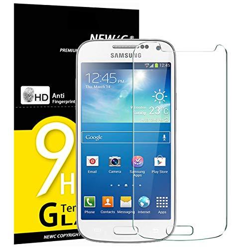 NEW'C PanzerglasFolie Schutzfolie für Samsung Galaxy S4 Mini, [3 Stück] Frei von Kratzern Fingabdrücken und Öl, 9H Härte, HD Displayschutzfolie, 0.33mm Ultra-klar, Displayschutzfolie Samsung S4 Mini