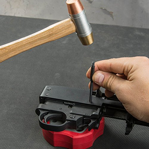 Real Avid Smart Bench Block: Non-Slip, Magnetic Universal Gunsmithing Bench Block, Engineering Resin Helps Protect Gun Finish, Magnet Prevents Loosing Unfastened Pins