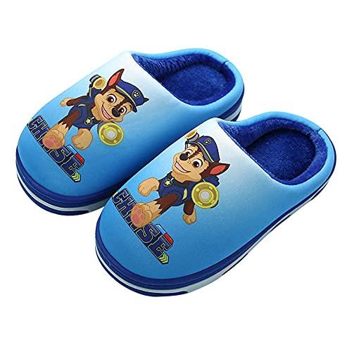 Y-PLAND Pantofole di Cotone per Bambini della Squadra di Wang Wang, Pantofole da casa per Bambini Invernali Ragazzi Peluche Calde Scarpe da Interno Pantofole da Camera da Letto morbide-1_EU170