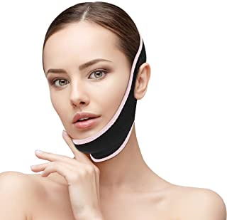 CAMTOA Facial Slimming Strap,Pain-Free Face Lifting Belt,Double Chin Reducer, V Line Face Lift for Women Eliminates Sagging Skin Lifting Firming Anti Aging (pink)