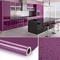 KINLO Pegatina para Muebles, Engomada Autoadhesiva de PVC para Decorar y Proteger con La Imagen de Madera, Pegatina para Muebles/Cocina/Baño, a Prueba de Agua/Moho,0.61*5M per Rollo