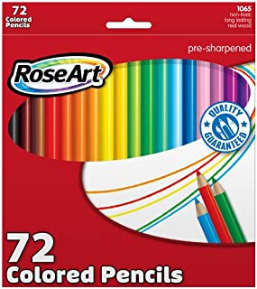 RoseArt Colored Pencils 72-Count Assorted Colors Packaging May Vary (CYM79)