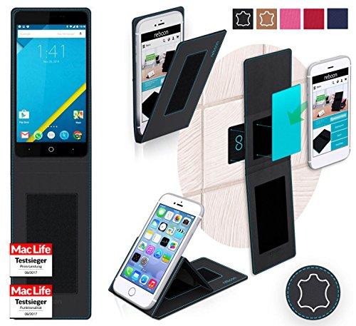 Hülle für Elephone P6000 Pro Tasche Cover Hülle Bumper | Schwarz Leder | Testsieger