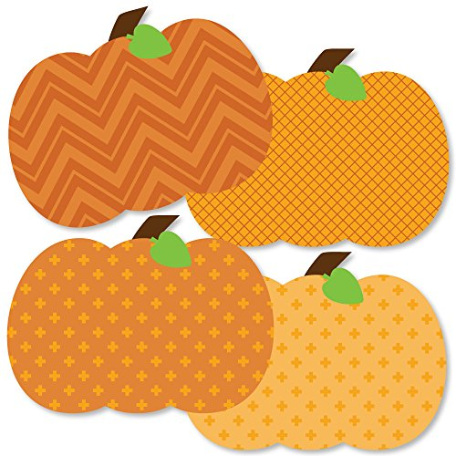 Big Dot of Happiness Pumpkin Patch - Pumpkin Decorations DIY Fall or Thanksgiving Party Essentials - Set of 20