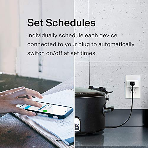 TP-Link Smart Plug Mini, No Hub Required, Wi-Fi, Works w/ Amazon Alexa & Google Assistant, Control your Devices from Anywhere, Occupies Only One Socket (HS105)