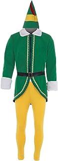 CosplayDiy Mens Elf Costume Buddy Costume Christmas ELF Cosplay Full Set Costumes
