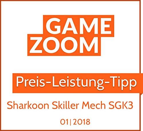 Sharkoon Skiller Mech SGK3 Mechanische Gaming Tastatur (mit RGB-Beleuchtung, rote Schalter, N-Key-Rollover, 1000 Hz Polling Rate) schwarz
