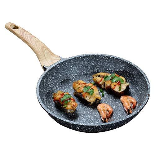 Carote 9.5-Inch Nonstick Frying Pan Skillet,Stone Cookware Granite Coating from Switzerland,Black…