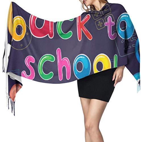 PQU Awesome Bufanda de cachemira ligera para educación de regreso a la escuela, chal y abrigos para mujer, bufanda para motociclismo, esquí, pesca,68x196cm