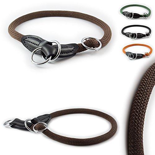 Pear - Tannery CarlCurt - Training Line: Retriever-Hundehalsband Aus Strapazierfähigem Nylon, XS 44-46cm, Braun