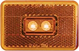 Perterson V170A Piranha Amber LED Clearance/Side Marker Light with Reflex (3001.7272)