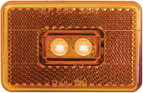 Peterson V170A Piranha Amber LED Side Marker Light with Reflex (3001.7272)
