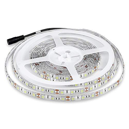 V-TAC Tira LED SMD5050 10,8W/mt 9,6W, Blanco, 5 unidades
