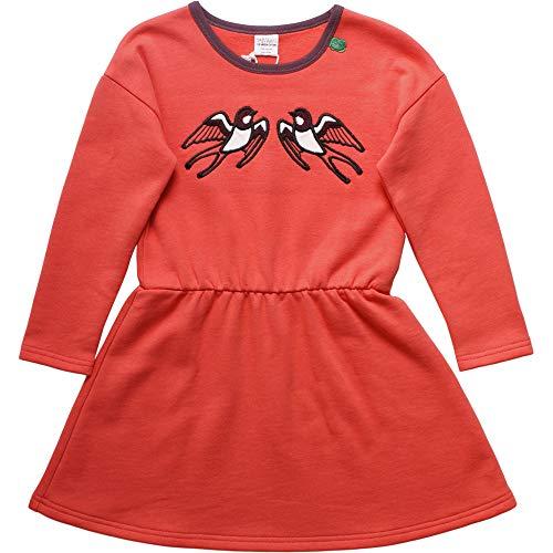 Fred'S World By Green Cotton Bird Sweat Dress Robe, Orange (Warm Coral 018164901), 92 Bébé Fille
