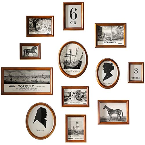 BYX Scandinavische fotowand familie, fotowand galerij set groot multi-frame wandinstallatie grote combinatie multi-frame foto-milieuvriendelijk blad