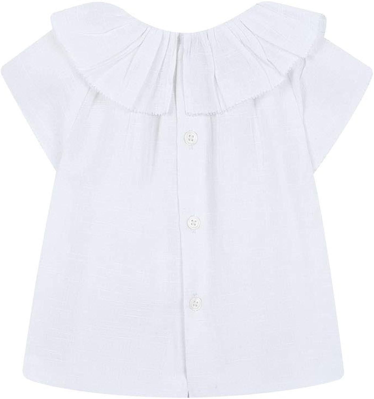 Gocco Blusa Cuello Volante Abrigo para Bebés
