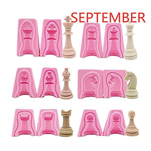 Set 12 moldes silicona forma piezas ajedrez