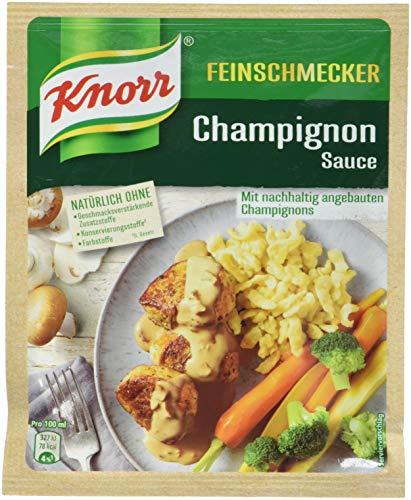 Knorr Feinschmecker Champignon Rahm Soße, 1er-Pack (1 x 250 ml)