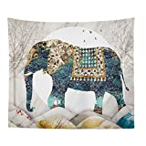 Jcnfa 象/ハウスフィッシュタペストリー アートデザイン 壁掛け ニューエイジタペストリー 3メートルの光を送る (Color : Elephant, Size : 59.05 51.18in)