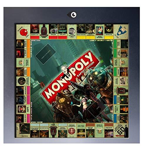 nr Bioshock Monopol Bord Poster Leinwand Malerei Drucke auf Leinwand Moderne Wandbilder Home Decoration Druck auf Leinwand-50x50cm No Frame