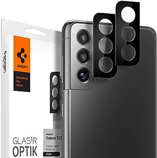 Spigen Glas tR Optik Galaxy S21 用 カメラフィルム 保護 ギャラクシー S21 用 カメラ レンズ ガラスフィルム 2枚入