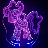 Dibujos animados ciervos Bambi lámpara de mesa dormitorio ilusión 3D cambio multicolor RGB decoración lámpara niño niños regalo bebé kit noche luz LED