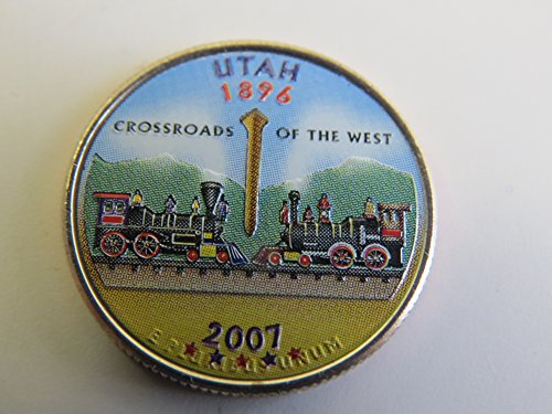 2007-Various-Mint-Marks-Utah-State-Colorized-Quarter-Choice-Uncirculated