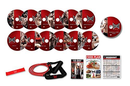 TAPOUT - Programa de entrenamiento completo - Pack de 12 DVDs inspirados en las artes marciales mixtas (MMA) - Producto original anunciado en TV. Idiomas: Español e Inglés. Manuales y Guias: solo Español