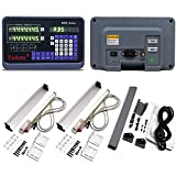 ToAuto 12'' 40'' 2 Axis Digital Readout DRO Kit 5um Precision Linear Scale 300mm & 1000mm(10 in x 40 in) for Mill Lathe,US Stock,2-4 Business Days
