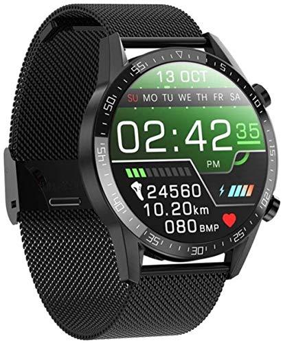 TYUI Reloj inteligente de 1,28 pulgadas, ajuste completo, pantalla redonda, pantalla de alta definición, recordatorio de información deportiva