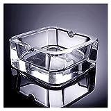 Posacenere per sigarette Posacenere in vetro di cristallo Tavolino da casa Posacenere da scrivania per ufficio Senza coperchio (2,7 pollici e 3,5 pollici) Regali per fumatori Posacenere per fumatori