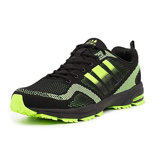 LEKANN 200 - Zapatillas deportivas para hombre (talla 47-50), color Negro, talla 48 EU