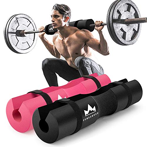Barbell Pad Squat Pad for Lunges, Squats and Hip Thrusts Foam Sponge Pad - Provides Relief to Neck...
