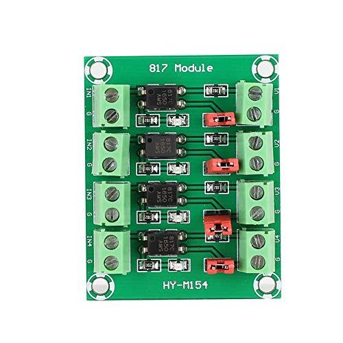Garsent Spannungsisolationsplatine 4-Kanal-Optokoppler-Isolationsplatine Spannungswandler-Adaptermodul Verwirklichen Sie 3,3 V oder 5 V zur Steuerung der Schnittstelle von 3,6 bis 24 V Spannungspeg