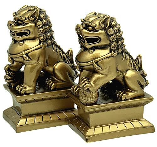 Feng Shui Foo Fu Dogs Imperial Guardian Lion Statues...