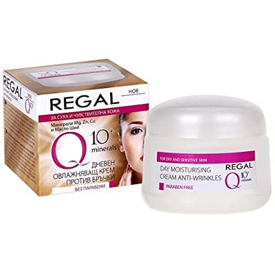 Regal Q10+ Moisturizing Anti-Wrinkle Day Cream Without Parabens Dry Sensitive Skin with Coenzyme Q10 from Rosa Impex