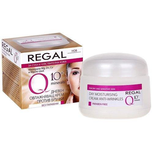 Crème de jour hydratante Anti-rides REGAL Q10 plus aux minéraux pour peaux sèches et sensibles