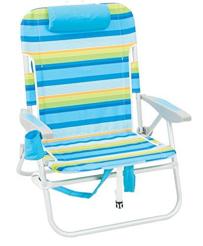 Rio Beach Big Boy Folding 13 Inch High Seat Backpack Beach or Camping Chair,...