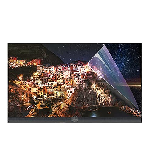 GFSD Protector de Pantalla Bloqueo Luz Azul Película Antideslumbrante for TV Protección Ojos Adecuado for LCD, LED, 4K OLED y QLED Pantalla Curva Fácil Pegar