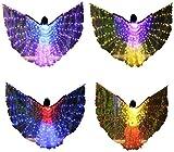 Bldance 4 in 1 Isis Flügel LED Farbverändernde Tanzen Performance Artikel mit Stöcken & Tasche...