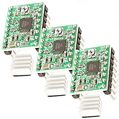 AZDelivery 3 x A4988 DMOS Stepper Motor Driver RepRap Ramps with Headers and Heatsink compatible with Arduino including E-Book!