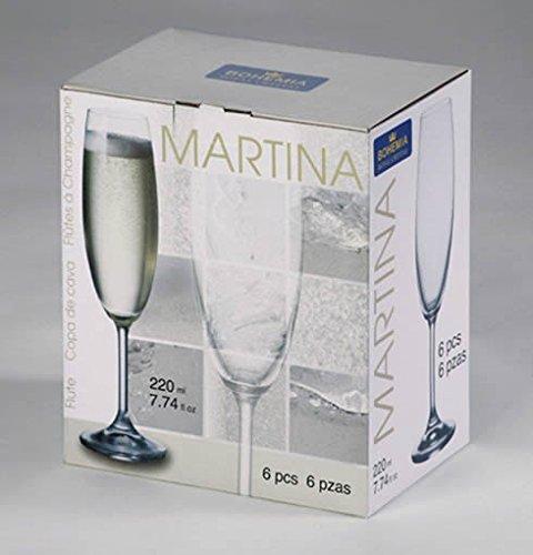 Bohemia - Copas Martina Flauta 22cl. 6p. EST-6
