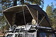 Standard size tent (sleeps 2) with high-density 78 by 48 inch foam double/full mattress and 750 pound max load Sets up and closes in seconds. Unique design eliminates need for additional setup. Heavy duty telescoping 8 foot aluminum ladder Aerodynami...