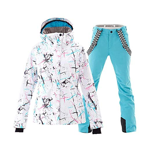 Ski Suit Ski Suit Vrouwen Winter Waterdicht Ademend Warm Snowboard Jas Bibs Broek Wind Resistant Outdoor Snowboard pak