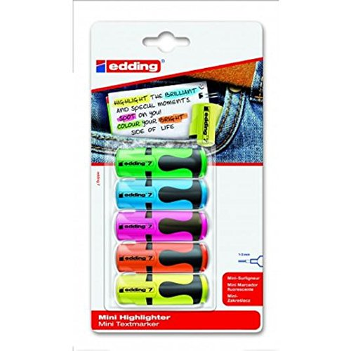 Edding Mini Highlighters 5 pro Packung