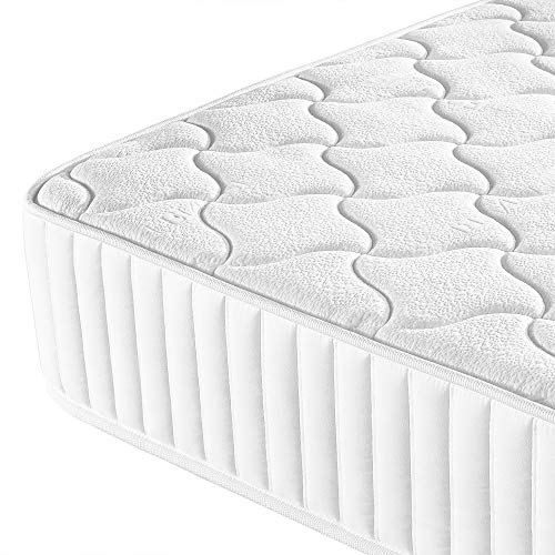 Yaheetech 3ft Single Mattress Memory Foam 9-Zone Mattress with Pocket Sprung and Tencel Fabric,Orthopedic Bed Mattress,Medium Firm,90x190x22cm