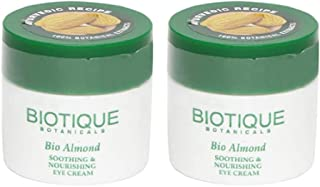 Biotique Bio Almond Soothing And Nourishing Eye Cream, 15g (Pack of 2)