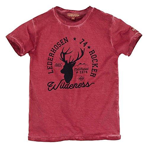 BONDI T-Shirt ´Lederhosen Rocker´, Rot 128 Lederhosen Rebel Artikel-Nr.29941